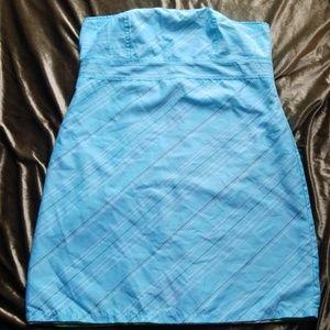 Reversible strapless summer dress